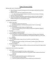 bio outline ch 1 and 2