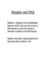 mutation and dna.ppt