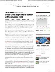 Coca-Cola says life is better without voice mail - CBS News.pdf