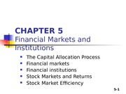 Chapter 05 - Financial Market Institutions