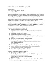 Study Guide for Exam 3 of PSYC 2015