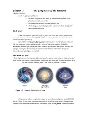 The Components of the Universe cont
