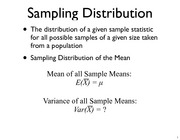 lecture 10 Sampling distribution