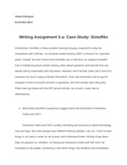 Alesia Rodriguez-Writing Assignment 3