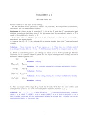 MATH 435 Worksheet 6 Solutions