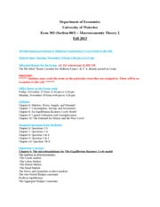 Syllabus, Procedure & Sample Questionnaire for Exam 2-Section 003