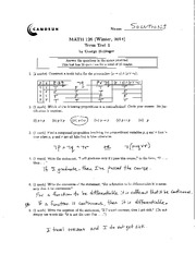 Math 126 Midterm Solutions