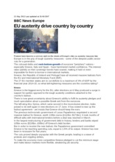 EU austerity drive country by country