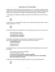 Study Guide for 20th Century Music Part 1 (FDWLD201-07) (1).doc