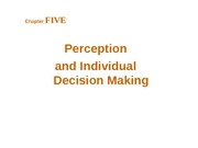 Chapter 5 - Perception & Decisioin Making - BB