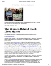DECEMBER 07The Women Behind Black Lives Matter - In These Times