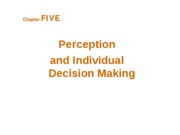 ob12_05st Chapter 5 Perception and Individual Decision Making