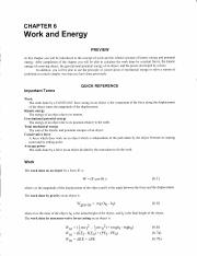 WORK & ENERGY STUDY GUIDE