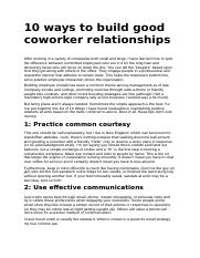 Task 1.2 Methods to develop positive workplace relationhips.docx