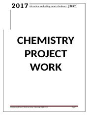 CHEMISTRY PROJECT WORK(DOLAY TSHERING 12A) docx - 2017 Effect of non