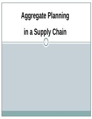Aggregate Planning in a Supply Chain.ppt