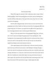 Post-perception essay