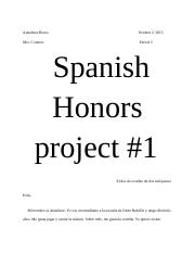 Spanish Honors project #1 - Due October 16, 2015.docx