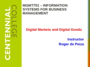 Class 10 - Internet Business Models and Strategies F15