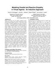 Modeling Parallel and Reactive Empathy in Virtual Agents - An Inductive Approach