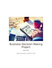 Business Decision Making Project 2.docx