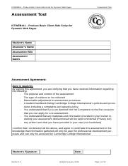 Assessment-ICTWEB411 (task 2 complete)final