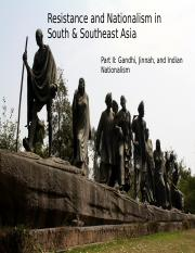 Week 8.1.2 Resistance and Nationalism in South Asia