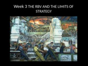 Strategy Week 3's Lecture