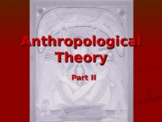 Anthropological Theory II