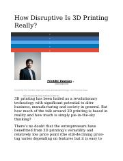 How Disruptive Is 3D Printing Really.docx