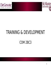 2BC3-Fall 2016-Lecture 6 -Training