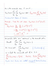 ECON 402 Univariate Case Notes