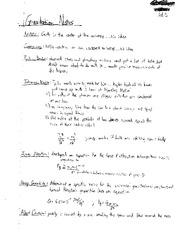 PHY 2004 Gravitation Notes
