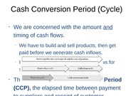 Cash Conversion Period (Cycle)