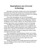 Smartphones one of recent technology.docx
