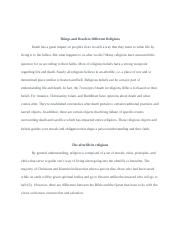 Final Paper Religion