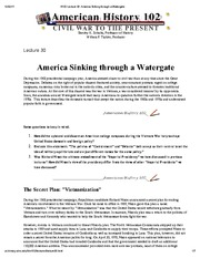 H102 Lecture 30_ America Sinking through a Watergate