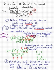 Simplify Exponent Notes