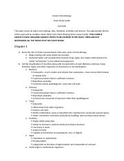 Honors Microbiology Semester I Study Guide