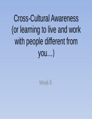 Week 8 - Cross Cultural Awareness(1).pptx
