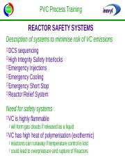 Reactor Safety Systems