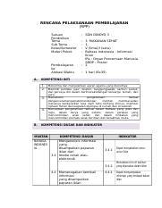 Contoh Rpp Kls 5 Tema 3 Doc Rencana Pelaksanaan Pembelajaran Rpp Satuan Pendidikan Tema Sub Tema Kelas Semester Materi Pokok Pembelajaran Ke Alokasi Course Hero