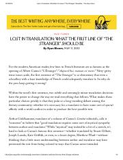 "Lost in Translation_ What the First Line of ""The Stranger"" Should Be - The New Yorker.pdf"