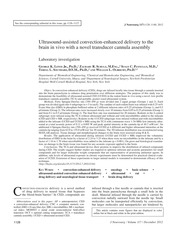 Ultrasound Assisted CED