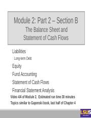 Module 2 - Part 2 - Section B - Balance Sheet and Cash Flows-2.pptx
