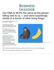 Comparing genetic similarity between humans and other things - Business Insider.pdf