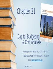 Chapter 21 - Cost Accounting - JK Baker(1)