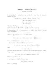 MAT217 Midterm 2 with Solutions