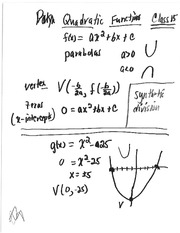 Class 15 Notes (Polynomial Functions, Synthetic Division)