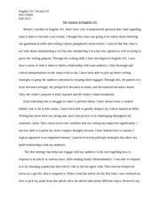 My Journey in English 101- reflective essay